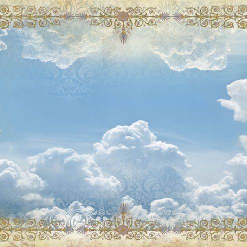 обои на потолок Орнамент и небо для потолка