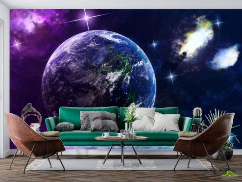 Фотообои Космос по выгодной цене Фотообои Планета Земля