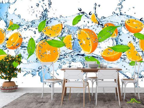 на кухню Фотообои в кухню Апельсин