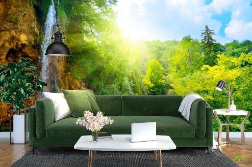 Водопад Фотообои Водопад, зелень купить