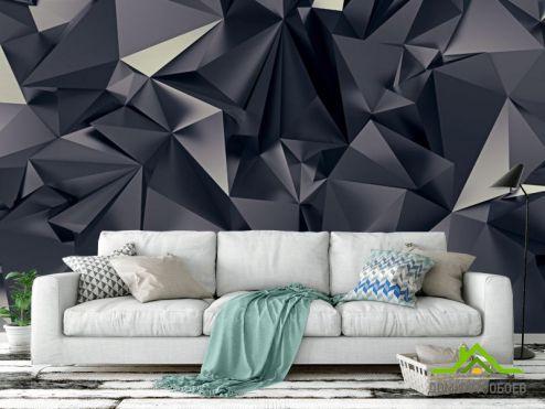 3D объемные Фотообои Треугольники 3Д