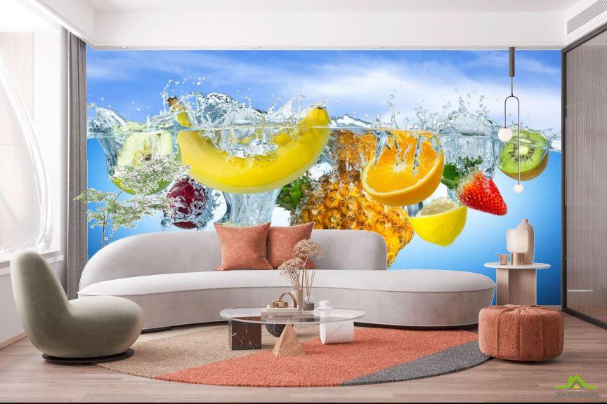 Фотообои Фрукты в воде