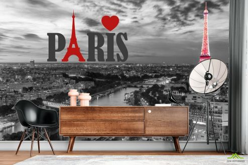 Фотошпалери, колір: «червоний» Фотошпалери Париж