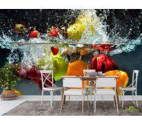 Фотообои в кухню Фрукты в воде