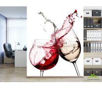 Фотообои красное и белое вино