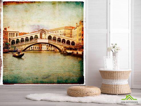 обои Винтажная Венеция Фотообои Мост в Венеции