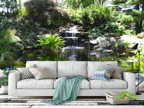 обои Водопад Фотообои Водопад, озерцо