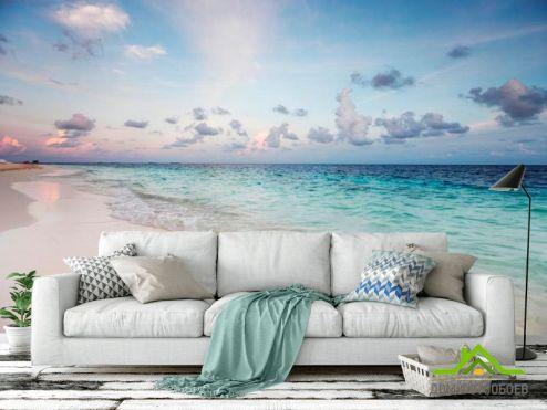 обои Пляж Фотообои Закат на пляже