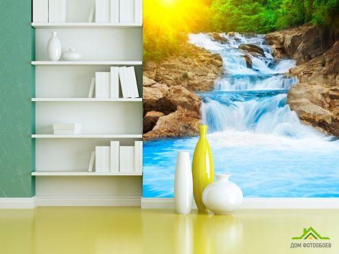 Водопад Фотообои Сила води, скалы