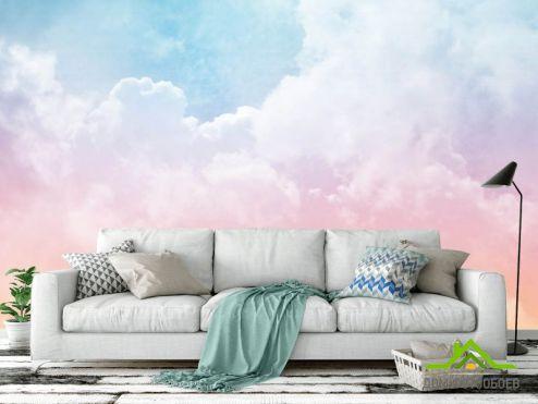 Природа Фотообои Розовое небо купить