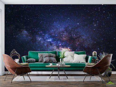 Космос Фотообои черный космос и звёзды