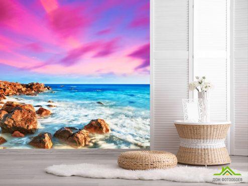 обои Природа Фотообои Морской берег, камни