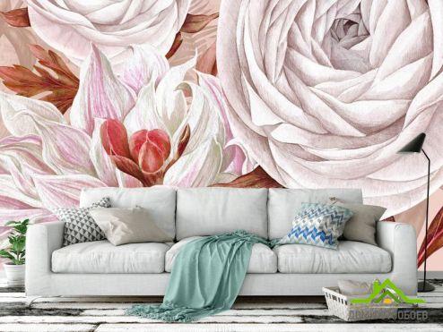 Эксклюзивные  Фотообои Дизайнерские цветы