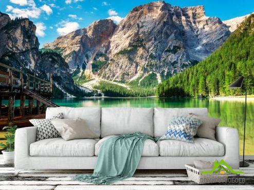 Природа Фотообои Озеро в Альпах