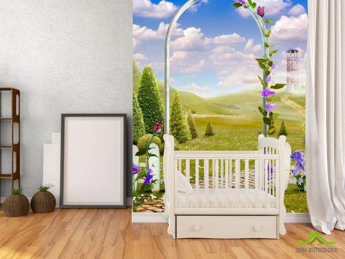 Фрески Фотообои Сказочный сад