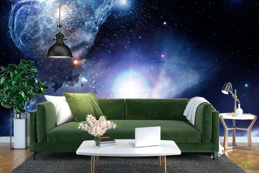 Фотообои космос с яркой звездой