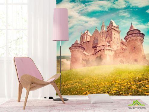 обои Архитектура Фотообои Замок посреди поля