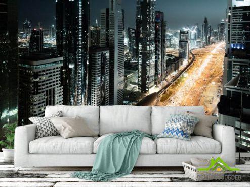 Фотообои Город по выгодной цене Фотообои Ночной город