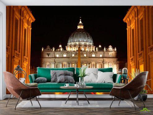 Рим Фотообои Ночной Ватикан