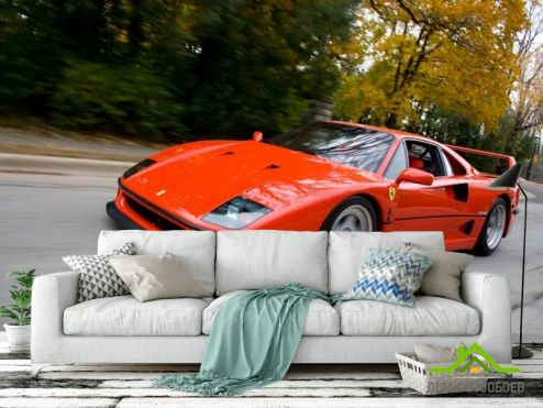 Красные обои Фотообои Ferrari F40