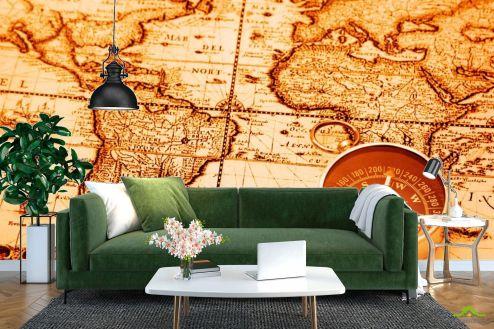 Каталог фотообоев Фотообои Карта и компас
