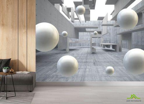 Фотообои в коридор и прихожую по выгодной цене Фотообои 3д шары