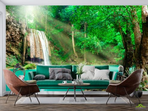 Природа Фотообои Спокойная вода, лес