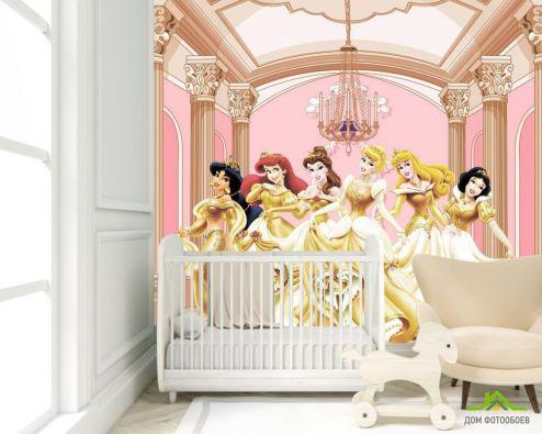 Фотошпалери, колір: «жовтий» Фотошпалери Принцеси