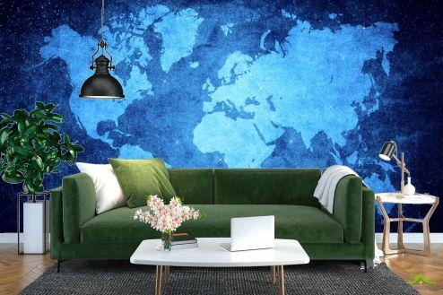 Карта Фотообои Ночная карта мира