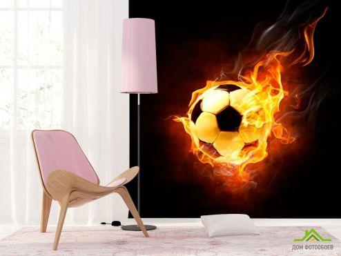 обои Спорт Фотообои Огненный мяч