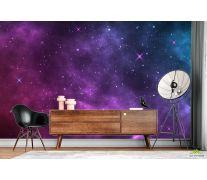 Фотообои Фиолетовое звёздное небо