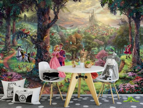 обои Принцессы Фотообои Волшебный лес