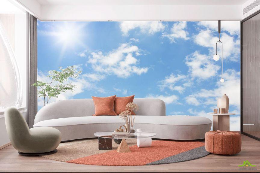 Фотообои солнечное небо