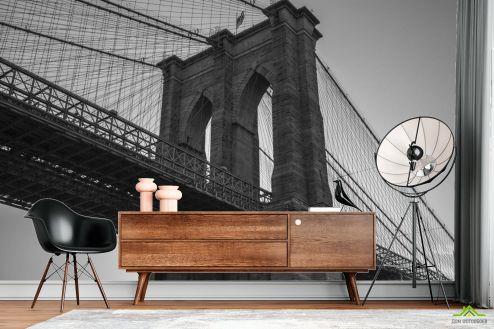 Фотообои Архитектура по выгодной цене Фотообои Бруклинский мост