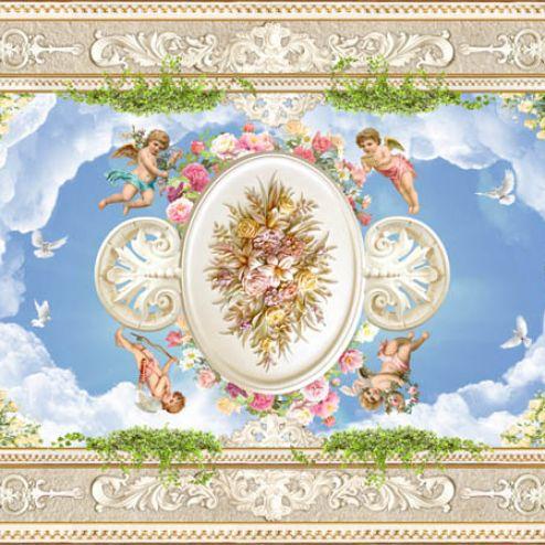 обои на потолок Фотообои ангелочки для потолока