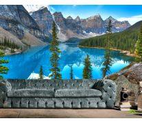 Фотообои кристальное озеро в горах