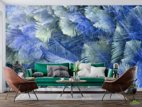 Фотообои перья по выгодной цене Фотообои Синие перья