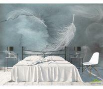 Фотообои Перья на акварельном фоне