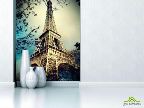 обои Архитектура Фотообои Эйфелева башня