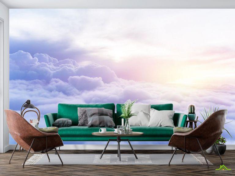 Фотообои пушистые облака