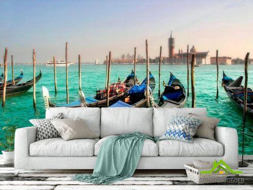 обои Венеция Фотообои Гондолы, Венеция