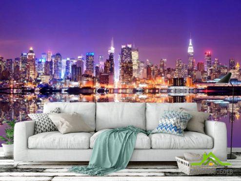 обои Нью Йорк Фотообои Яркие краски города New York