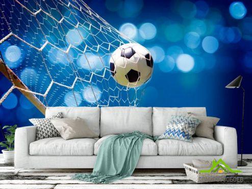 Фотообои Спорт по выгодной цене Фотообои Сетка с мячем