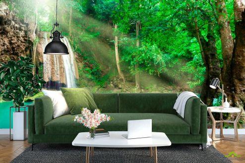 Водопад Фотообои Спокойная вода, лес