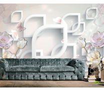 Фотообои 3д керамические цветы