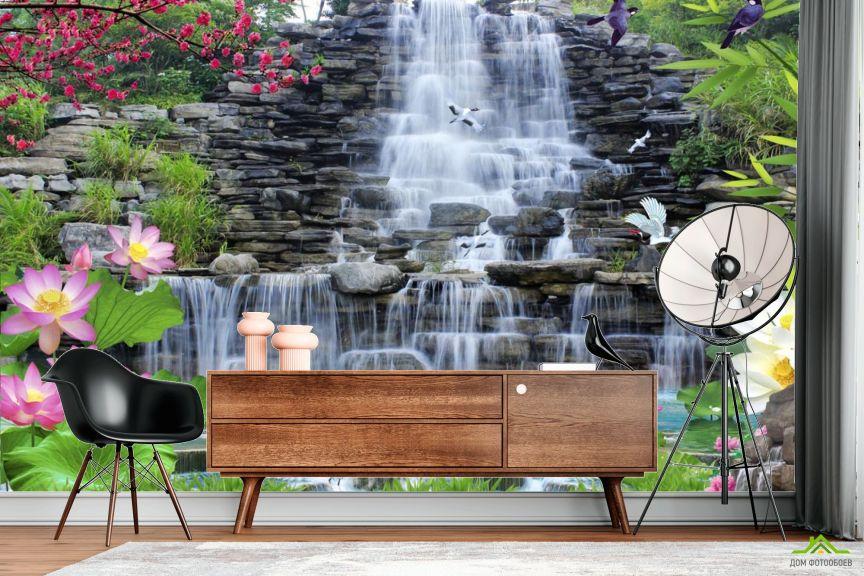 Фотообои Каменный водопад
