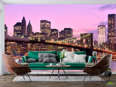 Нью Йорк Фотообои Зачарованный  мост Нью-Йорка