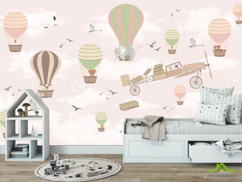 Little kids Фотообои Воздушные шарики для девочки