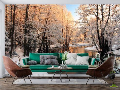 зима Фотообои Зима, снег