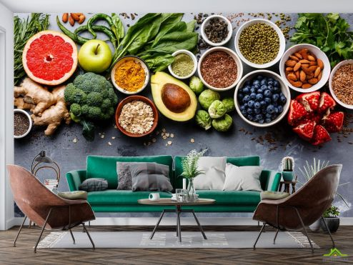 Еда и напитки Фотообои фрукты и овощи